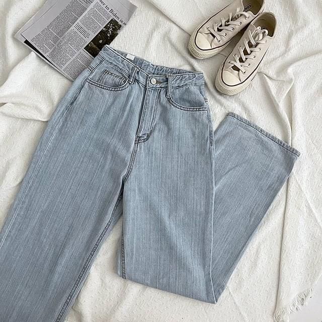 Slop Light Blue Wide Pants 牛仔褲
