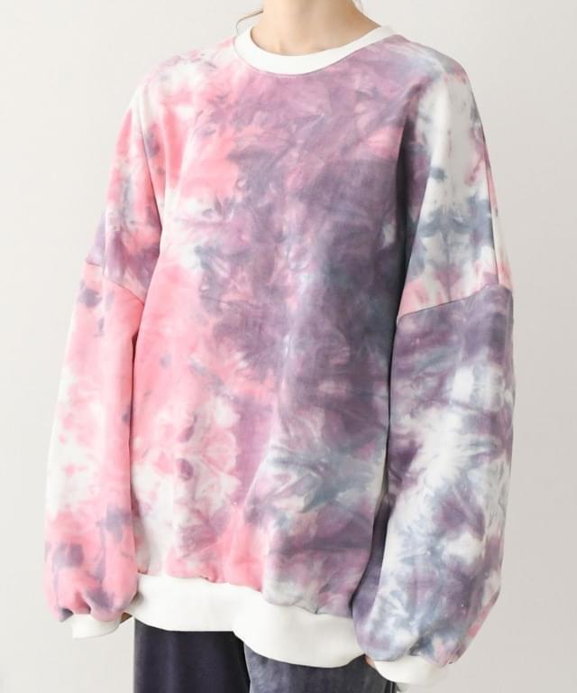 Water Printed Stingray Overfit Sweatshirt