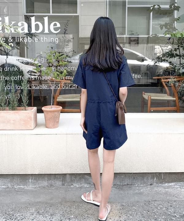 tube pocket half jumpsuit