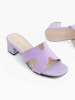 Beautiful color mule slippers 5cm