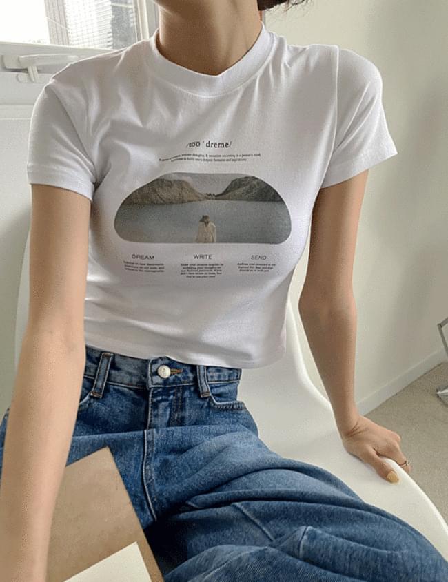 lake crop T-shirt