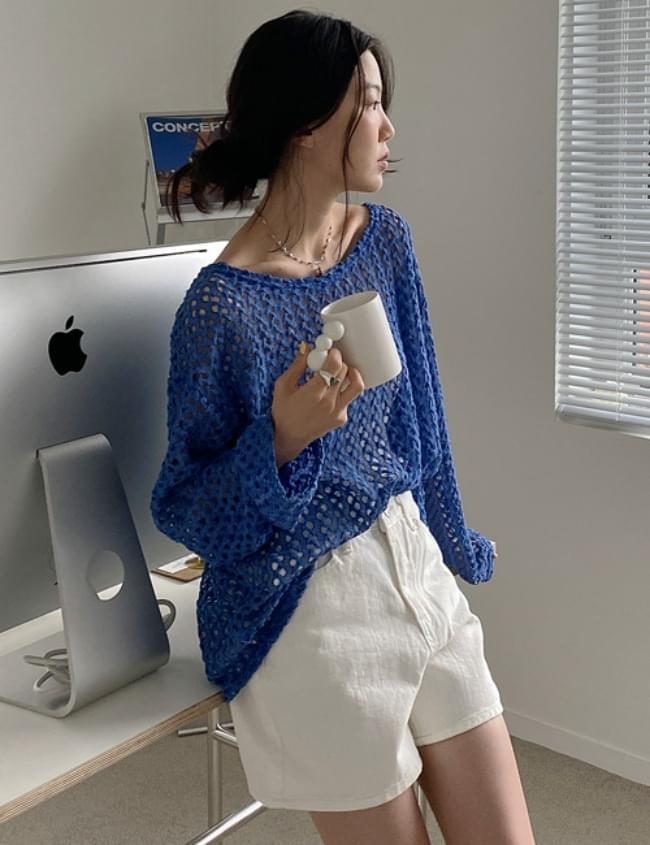 Net Boxy Knitwear