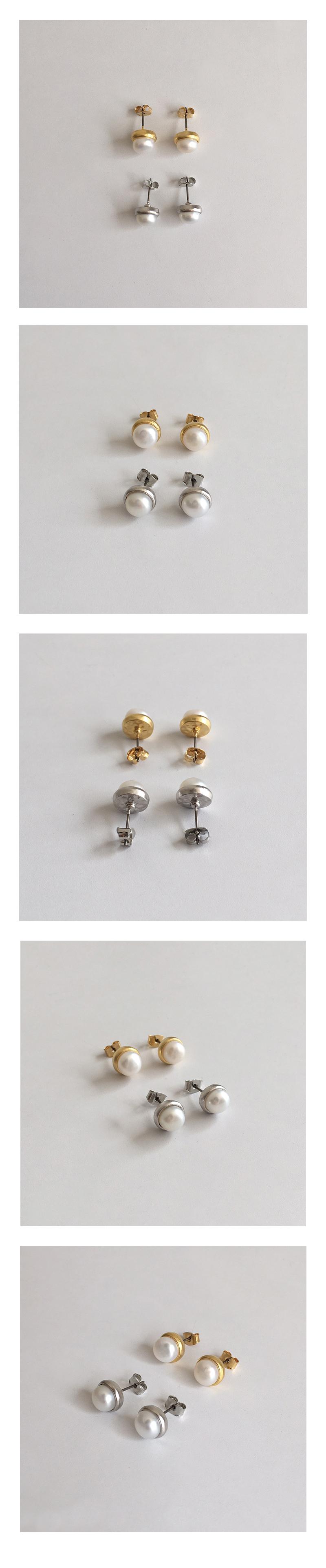 bean pearl earring