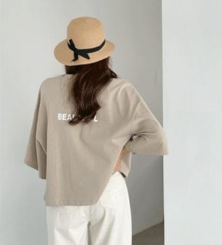 Split Uncut Sleeve T-shirt #109103