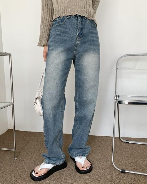 Howe Vintage Faded Semi-Wide Denim Pants