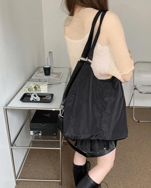 Witty Big Nylon Shoulder Bag