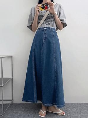 Grand Hall Denim Long Skirt