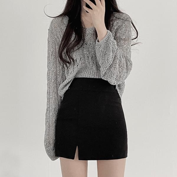 dove slit skirt