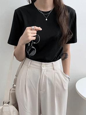 Mild Silk Cat Loose-fit Fit Short Sleeve Tee