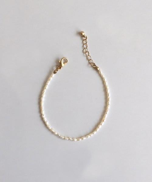 rice pearl bracelet