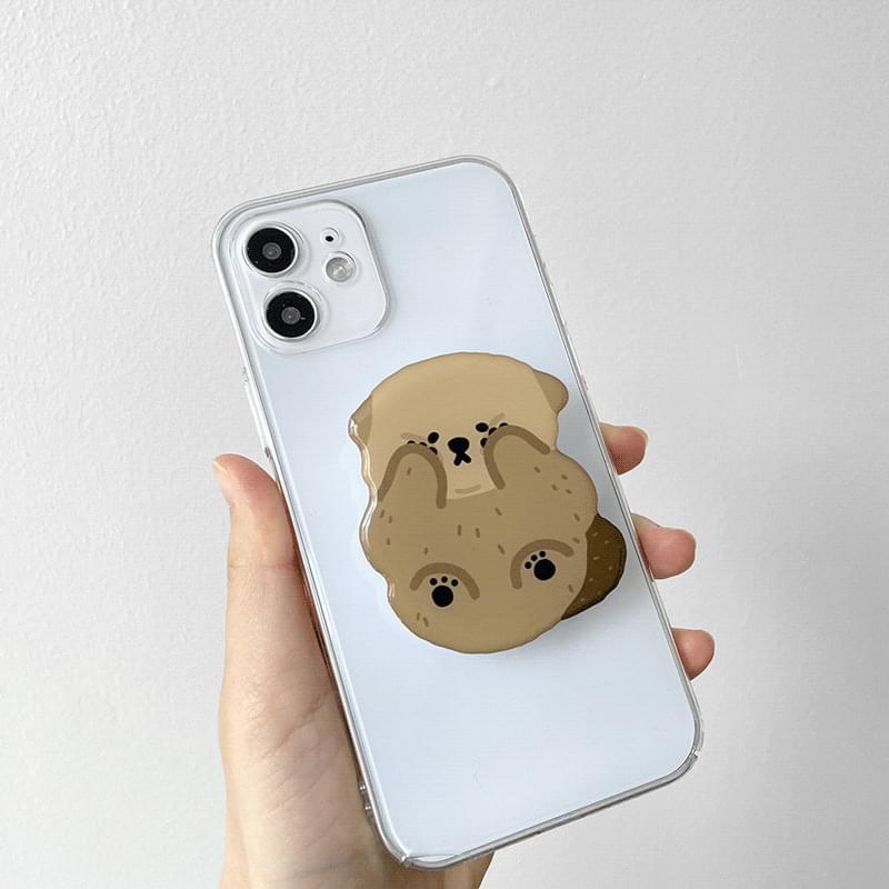 Pompon Otter Shape Epoxy Grip Smart Tok Holder