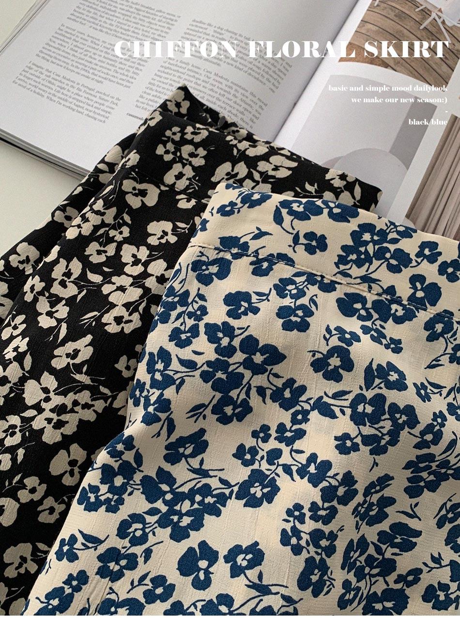nilla flower frill skirt