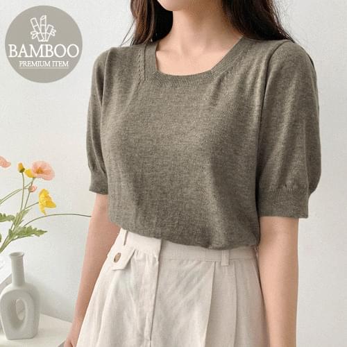 Bamboo Square Puff Knitwear