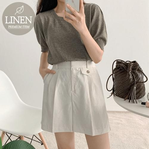 Lant Pocket Pintuck Linen Pants
