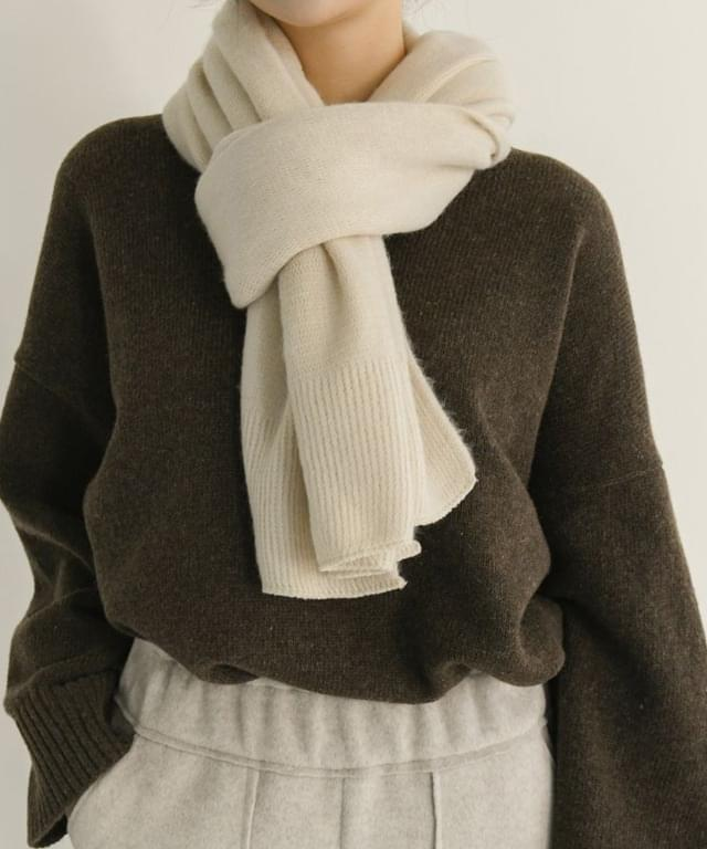 Soft Basic Knitwear Muffler