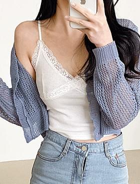 cross lace sleeveless