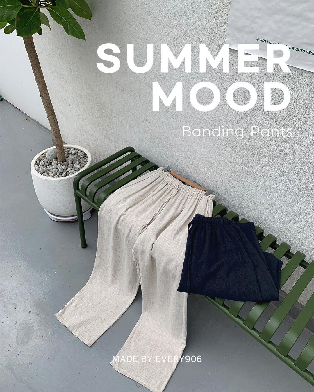 Summer mood banding pants
