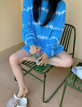 Waterful Dying Boxy Sweatshirt