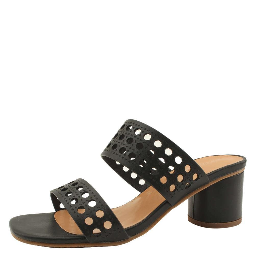 Feminine High Heel Mule Slipper Heel Black