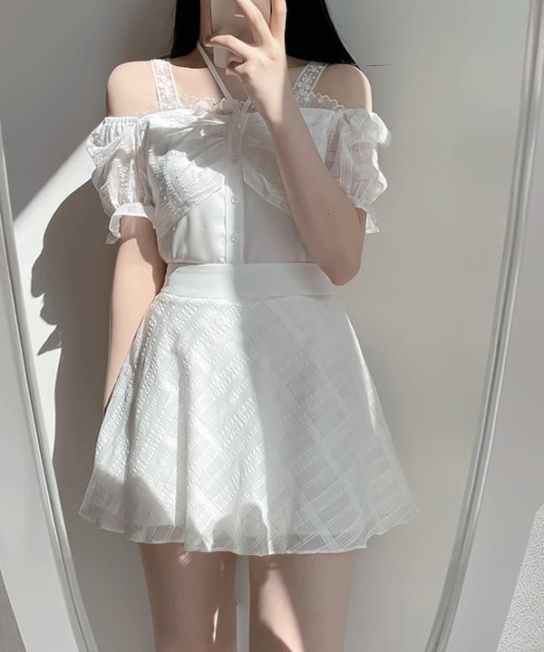 Soyou glitter flared skirt pants 2color
