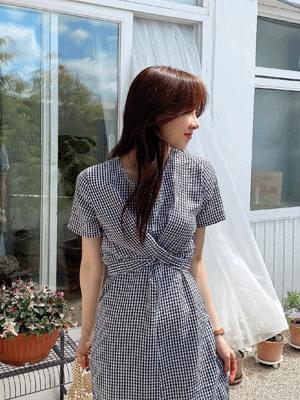 waffle twist Dress