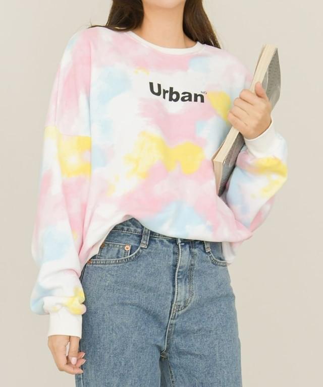 Pastel Water Print Urban Sweatshirt