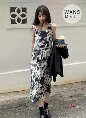op3717 backless tie-dye bustier Dress