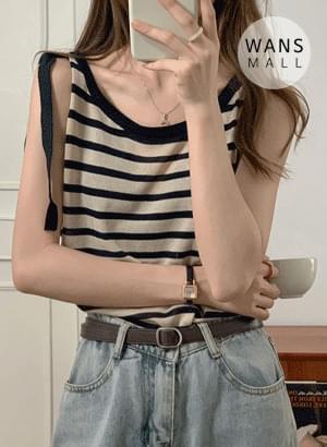 ns4772 Cool Marine Stripe Knitwear Sleeveless
