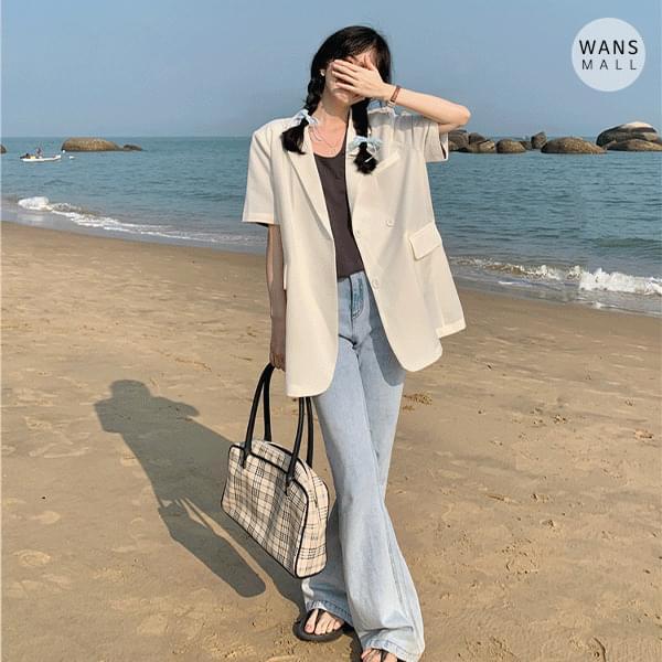 jk4974 Mabel Loose-fit Fit Short Sleeve Jacket