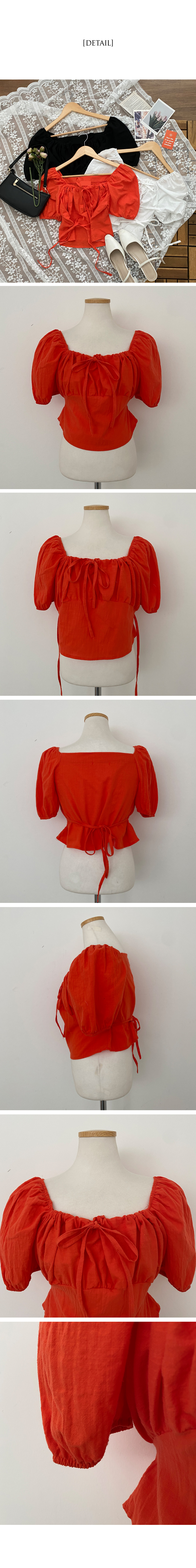 Season two-way cropped short-sleeved blouse
