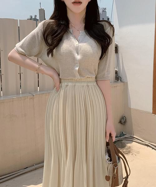 Rosiemallow Summer Linen See-through Knitwear Short Sleeve Cardigan