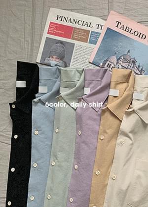 마르쿤 루즈핏 언발 반팔 셔츠