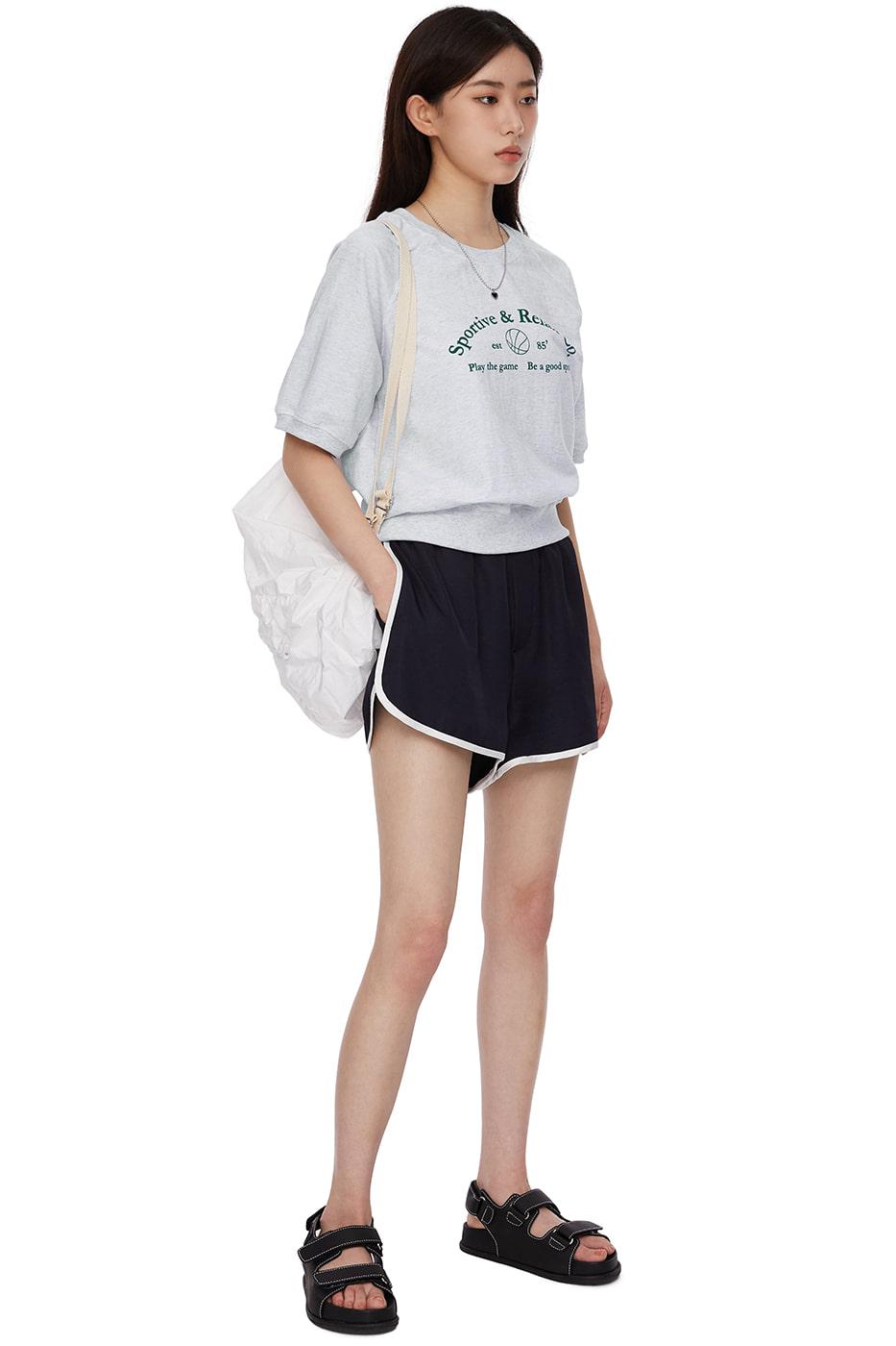 Rollin satin track shorts