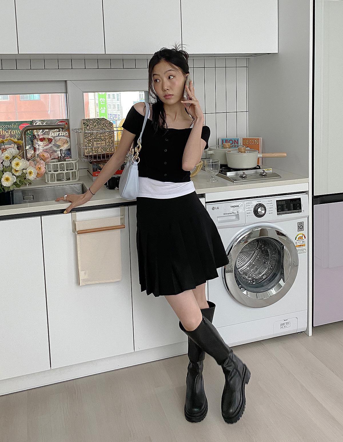 드레스 모델 착용 이미지-S1L2