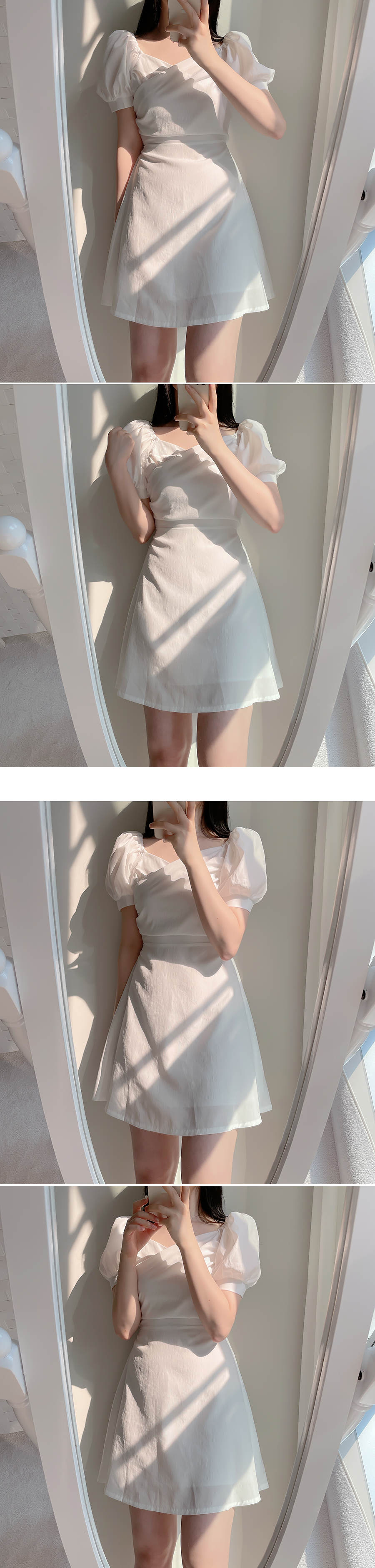Angeling Wrap Puff Dress 3color