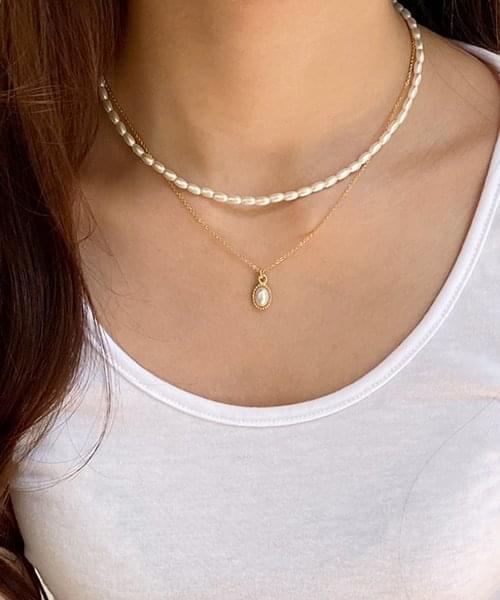 grace pearl necklace set