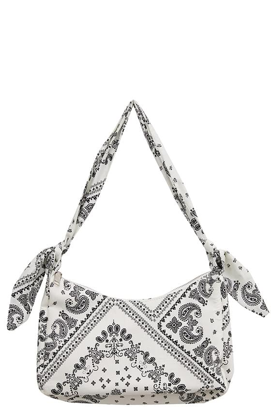 casual paisley pattern shoulder bag