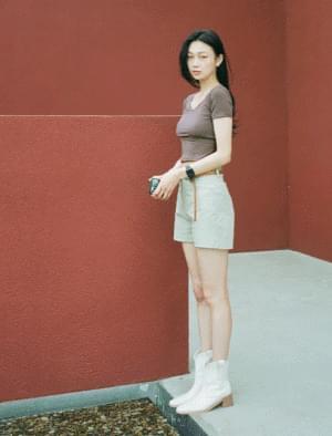 Irene High Waist Cotton Short Pants