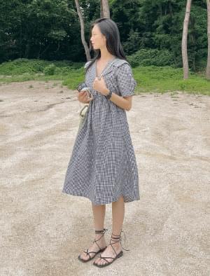 Sarah Check Long Dress