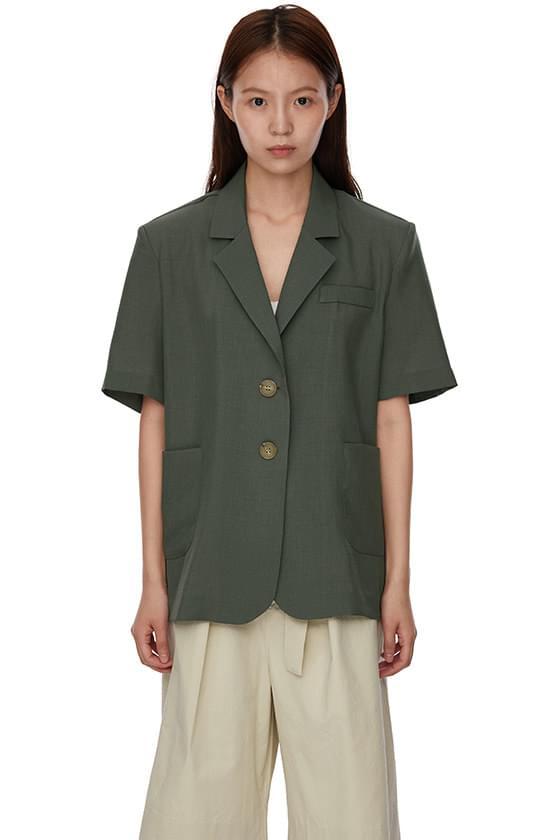 summer two-button half blazer