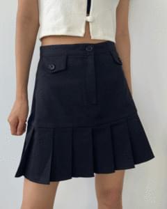 lolly pocket pleated mini skirt