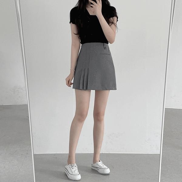 Scone Half Pleated Skirt