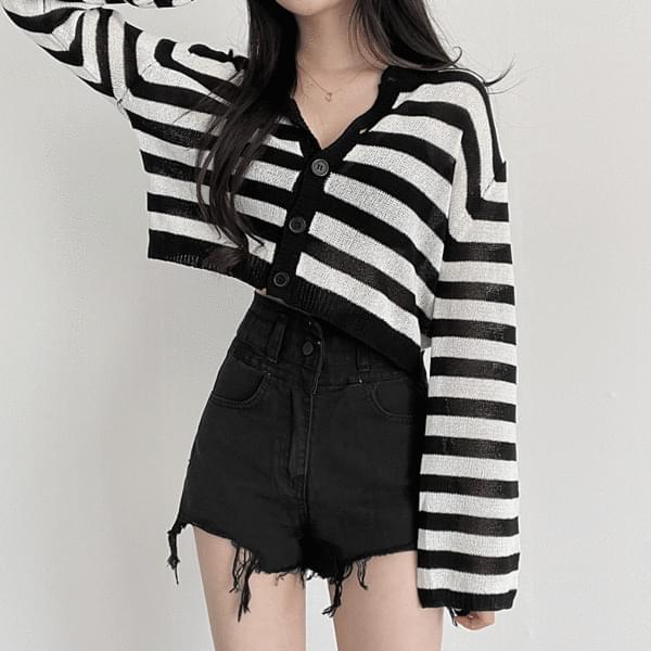 monica Striped cardigan