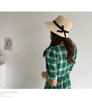 Raffia Ribbon Bucket Hat #86589