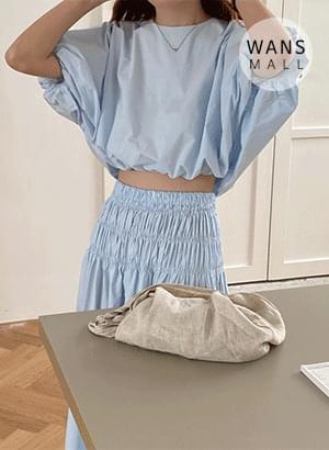 st4875 Peanut Blouse + Skirt Set