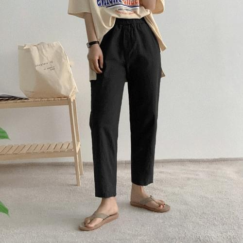 Recommended for short girls Hoshi Baggy banding pants