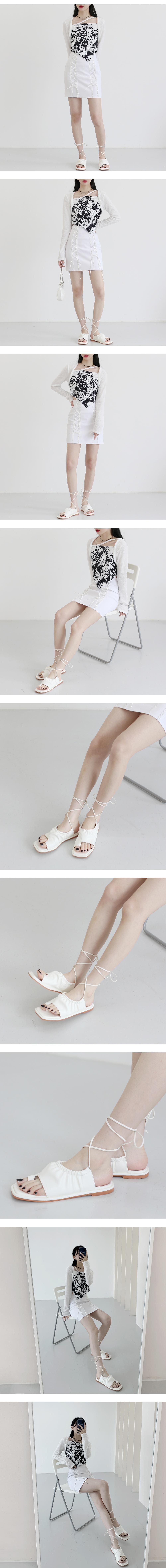 Veroni lace-up sandals