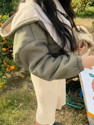 Citrus Fleece Hooded Jacket