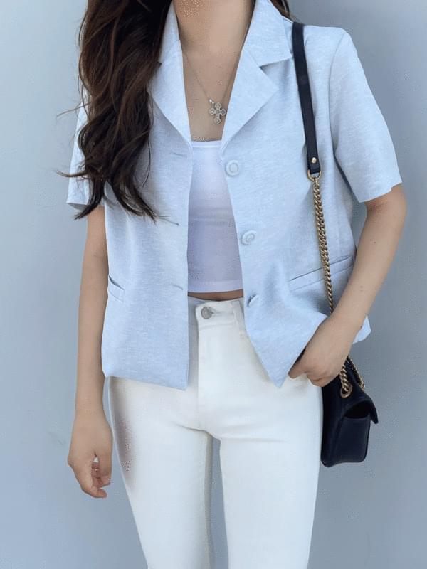 plain short sleeve jacket