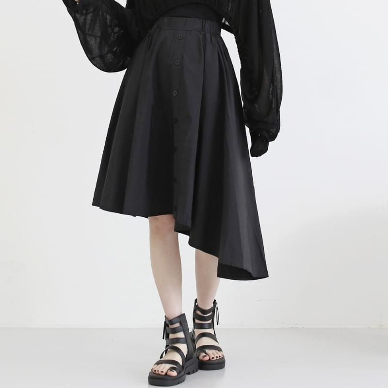 canyon button unfooted skirt
